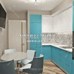 Современная кухня дизайн интерьера в Мытищах ЖК Рождественский