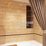Дизайн ванной комнаты в ЖК Новое Медведково Мытищи