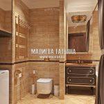 Дизайн ванной совмещенной с санузлом Малиева Татьяна