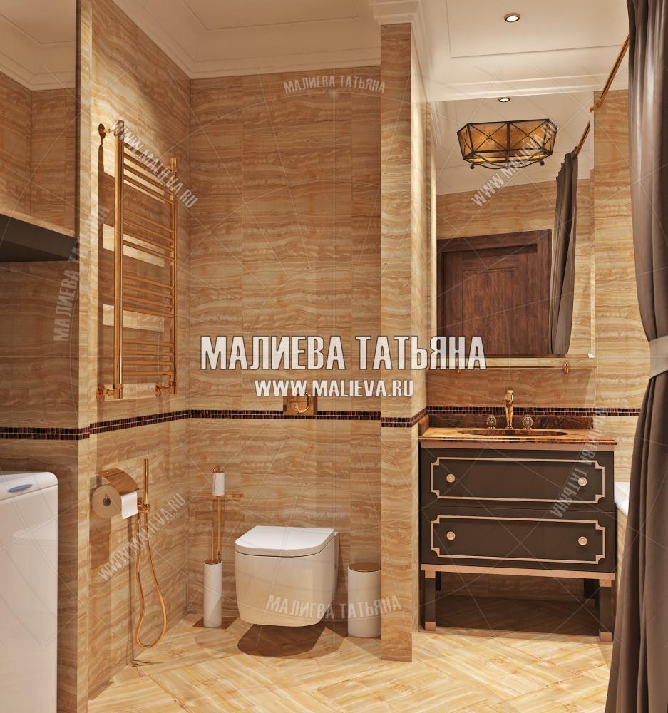 Дизайн ванной комнаты в ЖК Новое Медведково