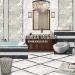 Коллаж ванной комнаты в ЖК Савеловский Сити