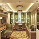 Вариант гостиной 1 в дизайн проекте Малиевой Татьяны Люберцы 2019