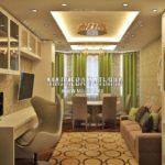 Вариант гостиной 5 в дизайн проекте Малиевой Татьяны Люберцы 2019