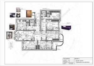 Вариант планировки 1: Дизайн квартиры в Люберцах от Малиевой Татьяны 2019
