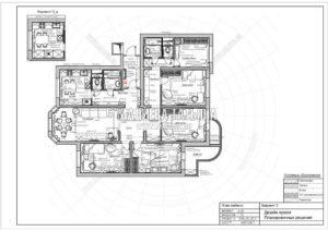 Вариант планировки 3: Дизайн квартиры в Люберцах от Малиевой Татьяны 2019