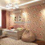 Вариант спальни младшей дочери 2 в дизайн проекте Малиевой Татьяны Люберцы 2019