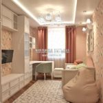 Вариант спальни младшей дочери 3 в дизайн проекте Малиевой Татьяны Люберцы 2019
