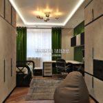 Вариант спальни сына 1 в дизайн проекте Малиевой Татьяны Люберцы 2019