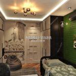Вариант спальни сына 3 в дизайн проекте Малиевой Татьяны Люберцы 2019