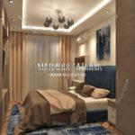 Вариант спальни для взрослых 1 в дизайн проекте Малиевой Татьяны Люберцы 2019