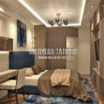 Вариант спальни для взрослых 2 в дизайн проекте Малиевой Татьяны Люберцы 2019