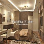 Вариант спальни для взрослых 3 в дизайн проекте Малиевой Татьяны Люберцы 2019