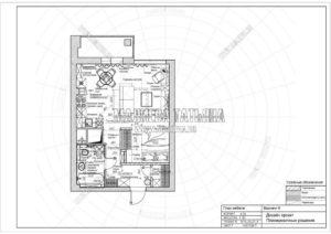 Вариант 6: Планировка квартиры дизайн проект в ЖК Яуза Парк