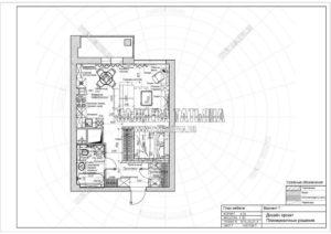 Вариант 7: Планировка квартиры дизайн проект в ЖК Яуза Парк