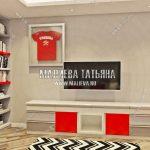 визуализация детской комнаты дизайн интерьера в ЖК Рождественский