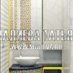 визуализация серого шкафа в ванной Малиева Татьяна