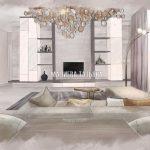 Гостиная в современном стиле ЖК Родионово, дизайнер Малиева Татьяна