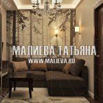 Дизайн гостиной в ЖК Новое Медведково