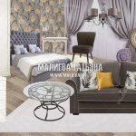 Коллаж спальни в ЖК Спутник Мытищи вариант 2