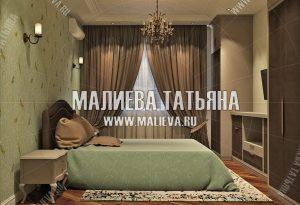 Дизайнерская спальня от Малиевой Татьяны в ЖК Новое Медведково