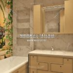 Дизайн ванной комнаты для взрослых в квартире с двумя ванными в дизайн проекте Малиевой Татьяны Люберцы 2019