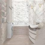 Дизайн ванной ЖК Родионово (Химки), дизайнер Малиева Татьяна