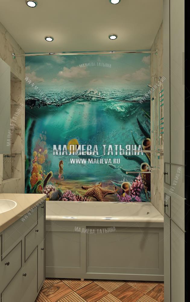 Дизайн детской ванной комнаты в дизайн проекте Малиевой Татьяны Люберцы 2019
