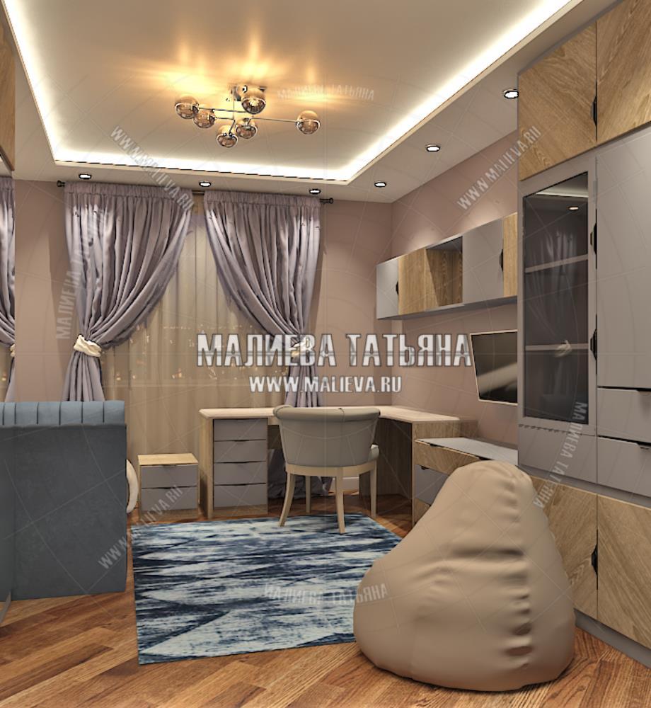 Дизайн детской для старшей дочери в дизайн проекте Малиевой Татьяны Люберцы 2019