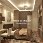 Дизайн интерьера спальной комнаты в дизайн проекте Малиевой Татьяны Люберцы 2019