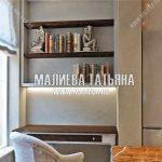 Дизайн кабинета на балконе объединенном с лоджией