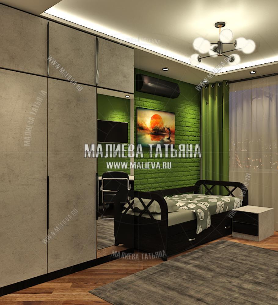 Дизайн комнаты для мальчика в современном стиле в дизайн проекте Малиевой Татьяны Люберцы 2019