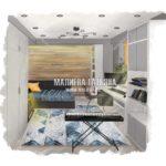 Дизайн комнаты для подростка музыканта в ЖК Купавна от дизайнера Малиева Татьяна 2019