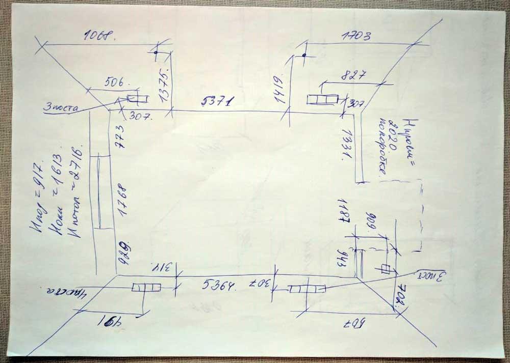 Замерный лист дизайн проект детской комнаты реутов 2019