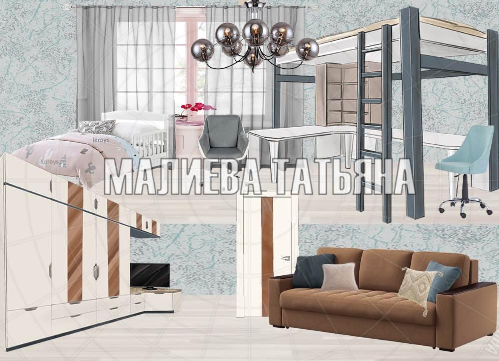 Коллаж гостиной в современном стиле