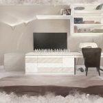 Минималистичная спальная комната дизайн проект Малиевой Татьяны в ЖК Родионово (Химки)