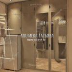 Современная гардеробная в дизайн проекте Малиевой Татьяны Люберцы 2019