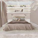 Современная спальня в дизайн проекте Малиевой Татьяны ЖК Родионово (Химки)