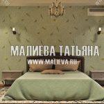 Дизайн спальни в 2018 году от Малиевой Татьяны