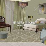 Коллаж оливковой спальни в ЖК Савеловский сити