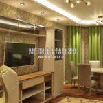 Уютная гостиная в дизайн проекте Малиевой Татьяны Люберцы 2019