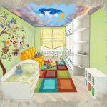 эскиз детской комнаты Малиева Татьяна