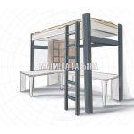 Эскиз кровати-чердак с рабочим столом