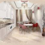 Эскиз кухни в ЖК Спутник