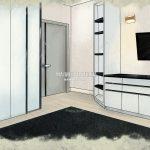Эскиз Малиевой Татьяны спальная комната Эталон Сити