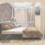 Эскиз спальни в ЖК Спутник