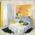 Эскиз спальни в Эталон Сити