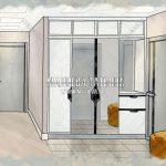 эскиз холла прихожей дизайн проект Малиева Татьяна