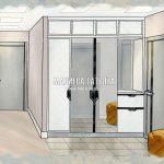 Эскиз холла-прихожей в ЖК Эталон Сити