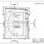 1 Фрагмент плана гостиной в квартире в ЖК Рождественский Мытищи