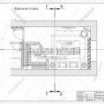 1 фрагмент плана спальни гардеробной ЖК Пироговская Ривьера